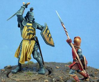 El duelo entr la montaña y la vivora roja por Dark Sword Miniatures