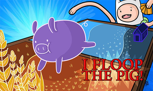 "Finn de Hora de aventuras juega la carta de ""cerdo"""