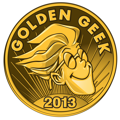 logotipo del galardon Golden geek 2013