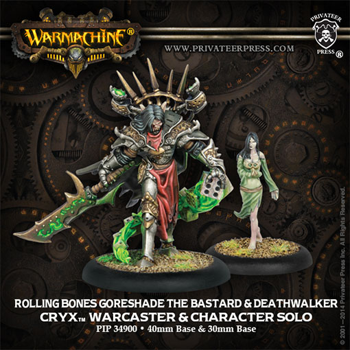 Rolling Bones Goreshade the Bastard & Deathwalker de Privateer Press