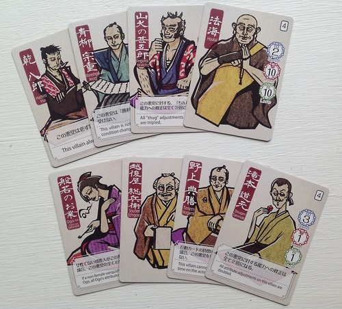 Cartas de villanos de Say Bye to the Villains