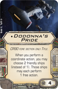 X-Wing, Tantive IV, Dodonna´s Pride