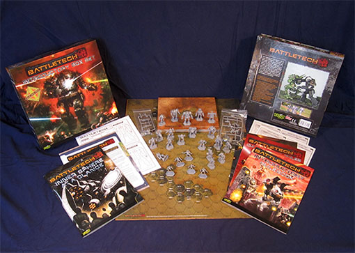 Componentes de Battletech introductory Box Set