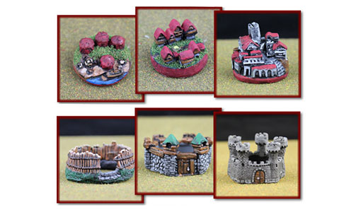 Miniaturas de los edificios de War of kings