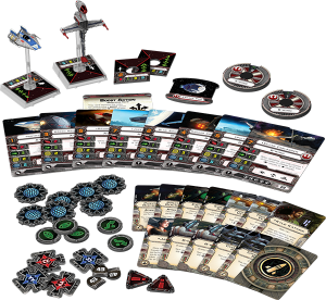 X-Wing, Ases Rebeldes, componentes.