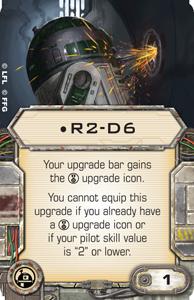 X-Wing, carta R2-D6