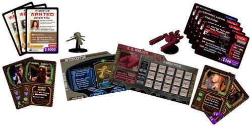 Componentes de la expansión para Firefly Pirates &Bounty Hunters