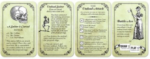 Marrying Mr. Darcy, cartas undead pack