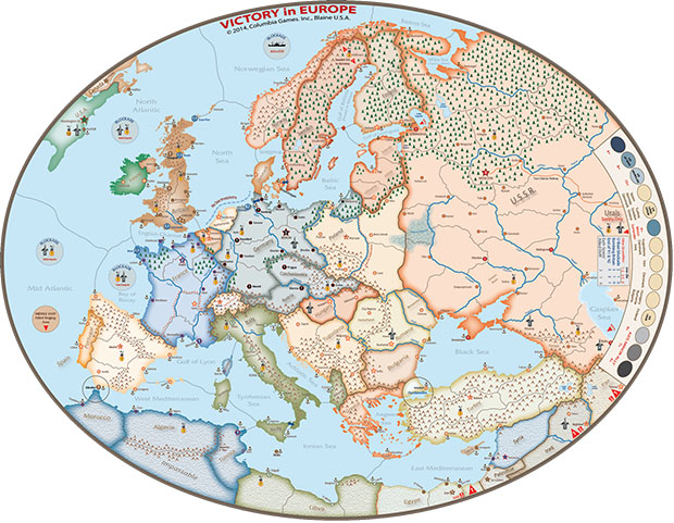 Mapa de Victory in europe