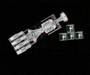 X-Wing, ejemplo colisión resultado