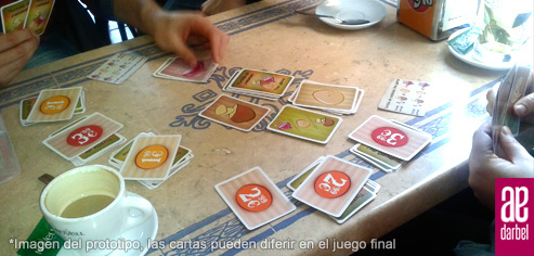 Prototipo de las cartas de Tortilla de patatas: the game de Darbel