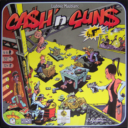 caja de Cash and guns