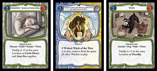 cartas de the card game of oz
