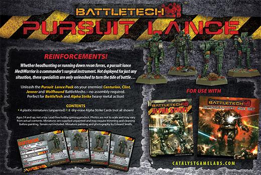 Trasera de la caja de persecución de battletech