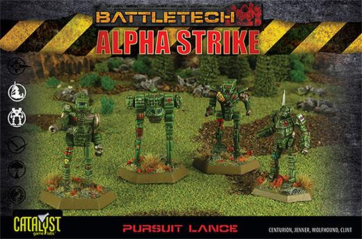 Caja de la lanza de persecución de Battletech