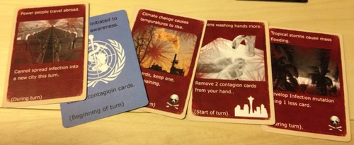Cartas de eventos de Pandemic Contagion