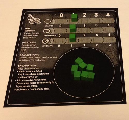 Tablero del jugador de Pandemic Contagion