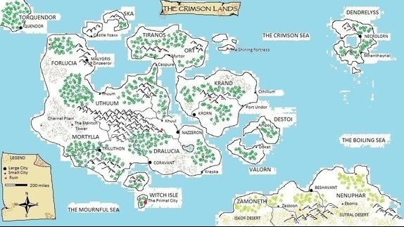 Crimson Blades, mapa