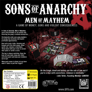 Sons of Anarchy, trasera juego