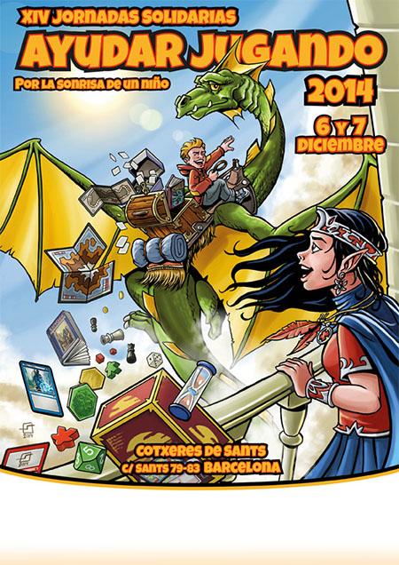 Cartel de las Jornadas Solidarias 2014 de Ayudar Jugando
