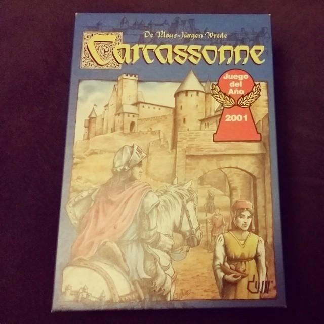 Preparando la #partidadelfinde con la familia. Carcassonne rules!