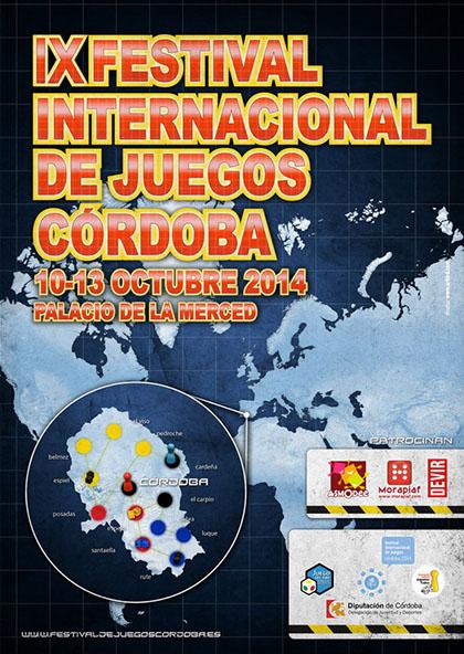 cartel de la IX feria internacional de juegos de córdoba