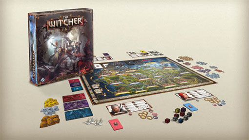 Componentes de The Witcher Adventure game