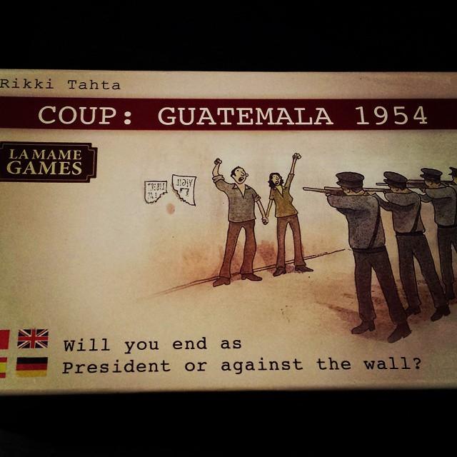Empezamos nuestra #partidadefinde con Coup: Guatemala 1954 distribuido por @zacatrus