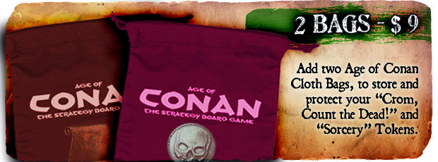 Age of Conan, Recompensa bolsas