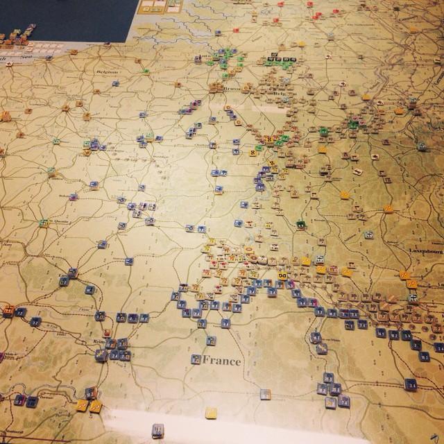 Partida a Battle of France, 1940 #juegosdemesa #wargames #partidadefinde