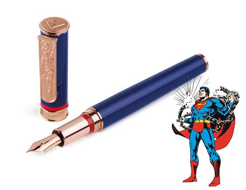Pluma de Montegrappa con decoración de Superman