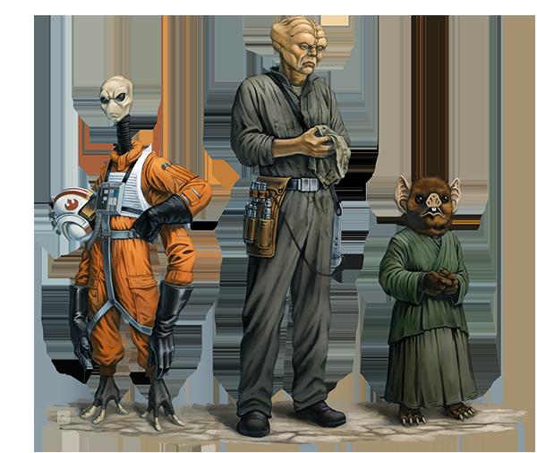 Star Wars Age of Rebellion - Stay on Target nuevas razas