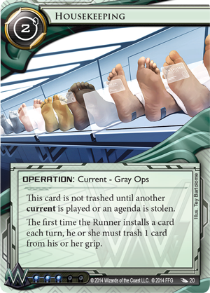 Netrunner - Order and Chaos Housekeeping