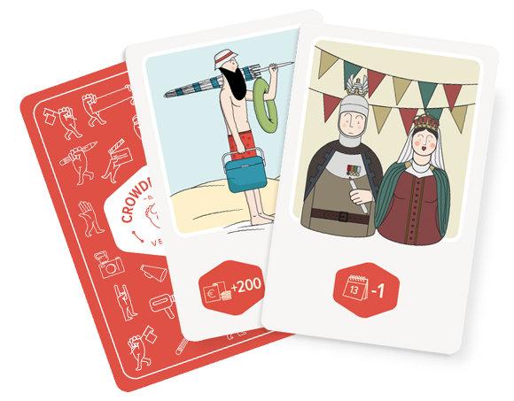 Crowdfunding, el juego cartas