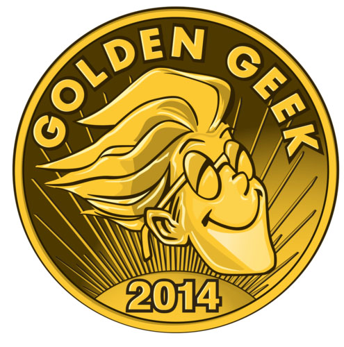 Logotipo de los ganadores del Golden Geek Award