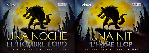 Portadas en castellano y catalan de one night ultimate werewolf