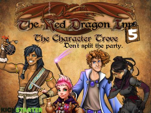 Portada de la quinta expansión de Red Dragon Inn