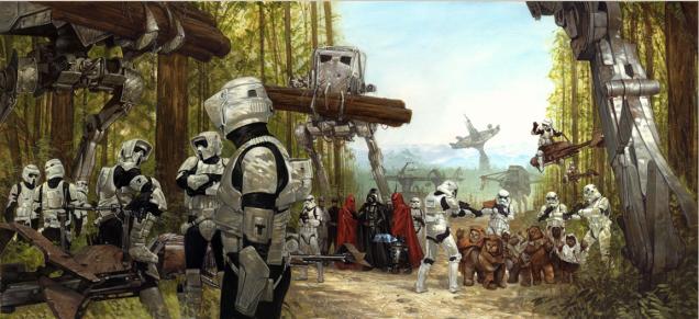 Ilustración Star Wars con Woks