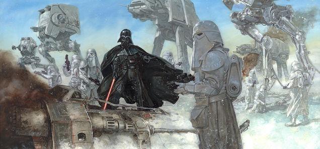 Ilustración Star Wars en Hoth