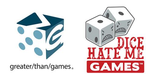 Logotipos de Dice hate Me y Greater than games
