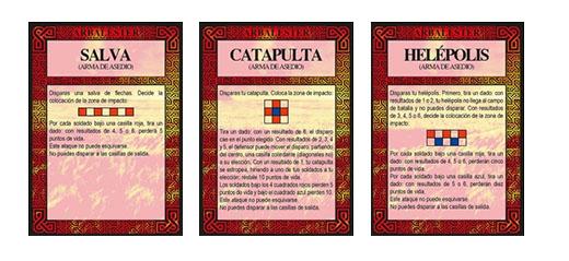 Cartas de maquinas de asedio de arbalester