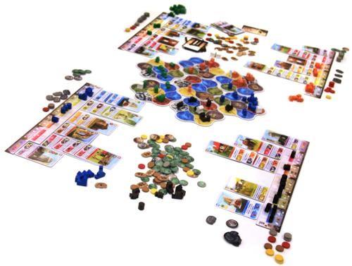 Contenido del juego Deus de Asmodee
