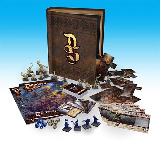 Componentes de Dungeon Saga