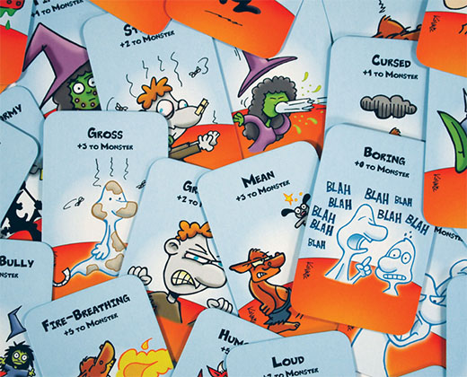 Cartas de monstruo de Munchkin Treasure Hunt