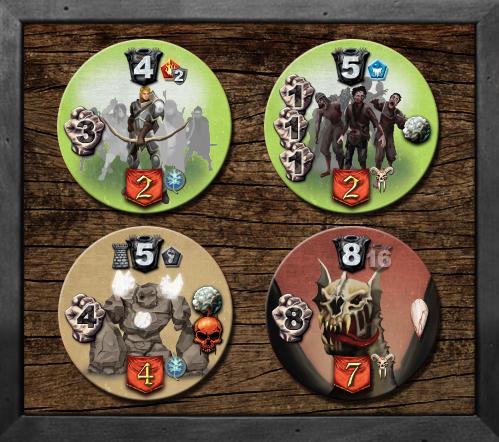 Nuevos tokens de enemigos de shades of tezla