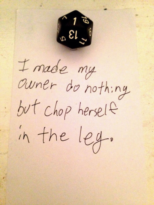 Dados sufriendo Dice Shaming