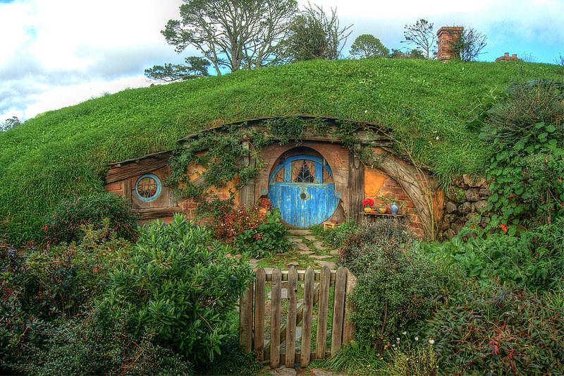 Imagen de una casa Hobbit