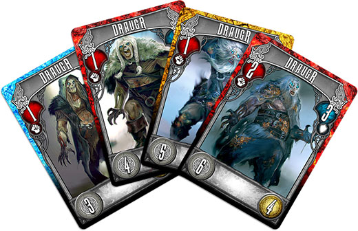 Cartas de monstruos de Champions of Midgard