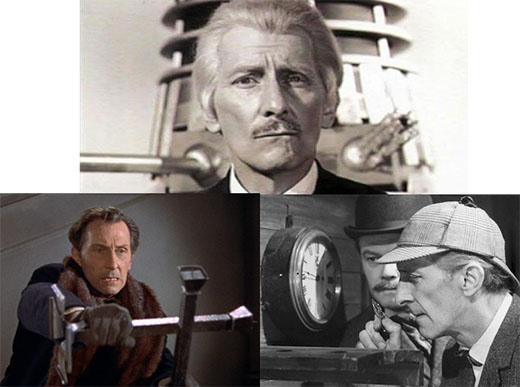 Peter Cushing en algunos de sus papeles