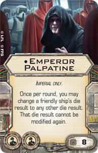 Carta del emperador palpatine para x-wing